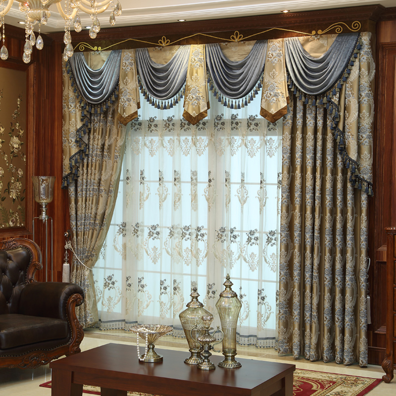 Affordable custom luxury window curtains drapes valances for Unique drapes and curtains