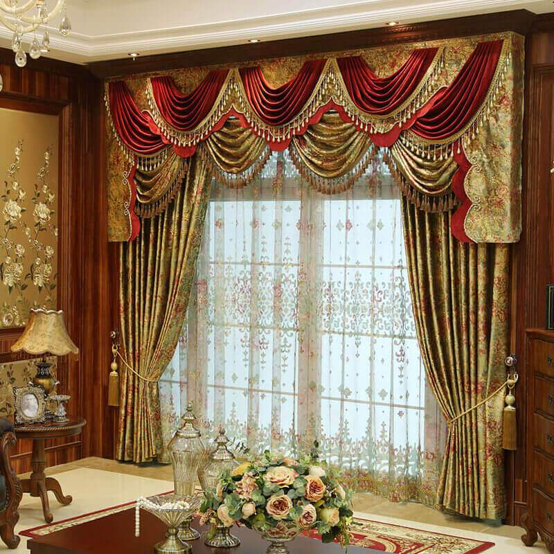 Discount custom luxury window curtains drapes valances for Unique drapes and curtains